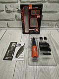 Бритва мужская электрическая с насадками X-Trim, Триммер MicroTouch Switchblade Red, Машинка для стрижки волос, фото 8