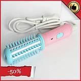 Мини плойка-расческа для выпрявления и завивки волос FD-008, дорожный утюжок, прибор для укладки, фото 2