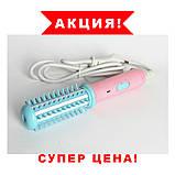 Мини плойка-расческа для выпрявления и завивки волос FD-008, дорожный утюжок, прибор для укладки, фото 3