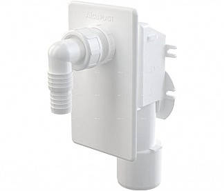 Сифон для пральної машинки під штукатурку білий, фото 2