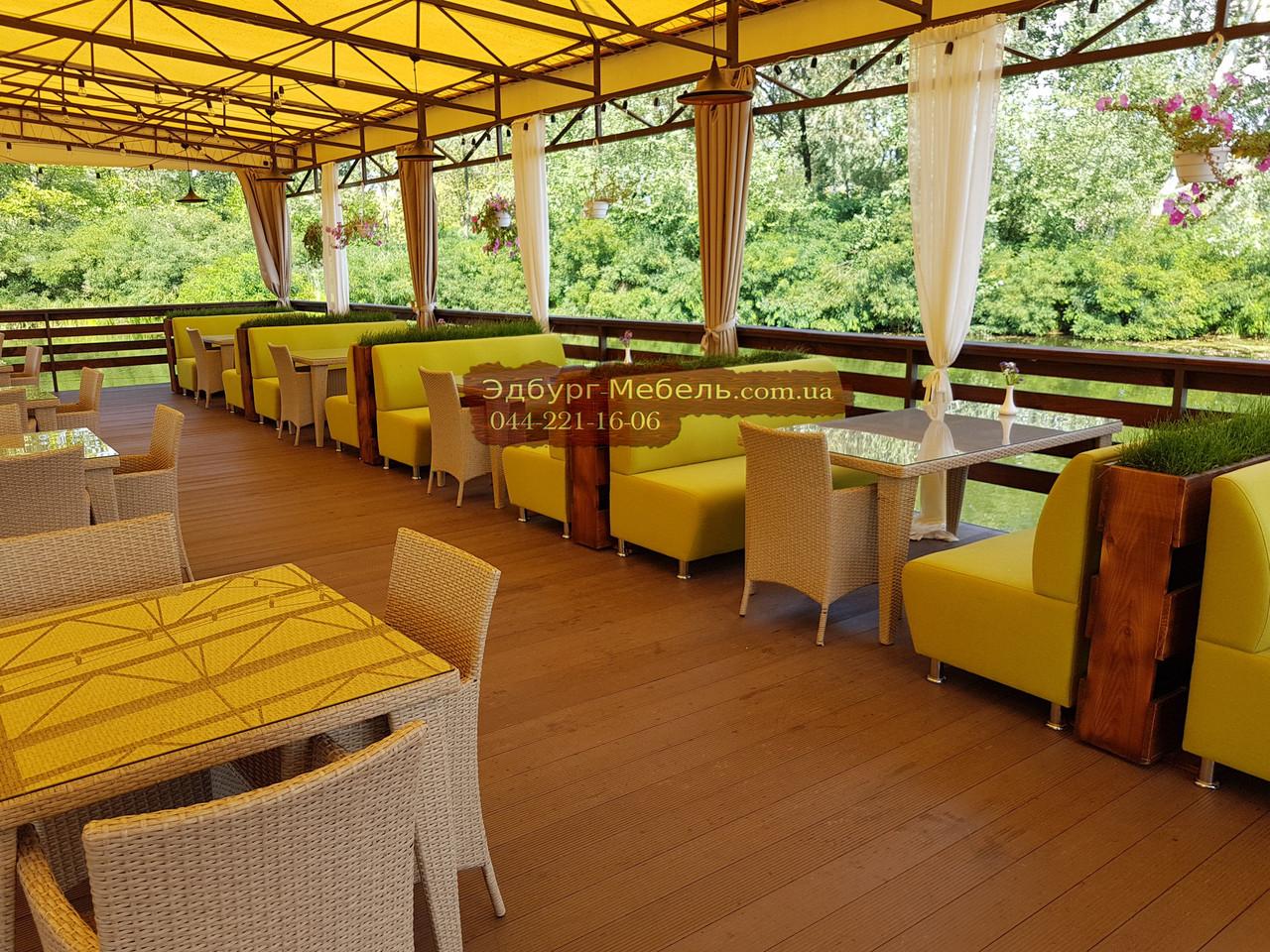 Диван для кафе на 3 человека 160х65х90см