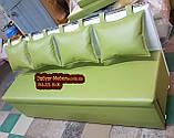 Диван для узкой комнаты с ящиком + спальным местом 1800х500х870мм, фото 2