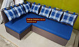 Кухонный уголок с подушками в рисунок, фото 9