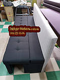 Диван для узкой и длинной комнаты с ящиком + спальным местом 1800х500х850мм, фото 5