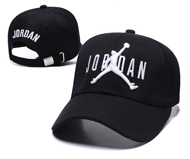 Стильная мужская летняя кепка-бейсболка Джордан черная с белым (реплика)