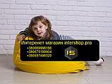 Кресло мешок груша детский   желтый Oksford , фото 5
