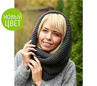 Вязаный шарф-хомут: новый цвет