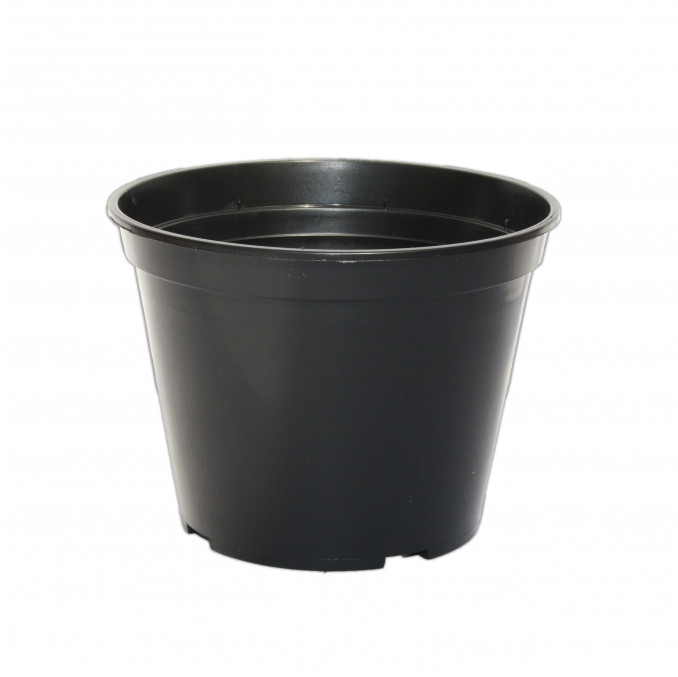 Горшок для розсады черный