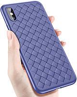 Силиконовый чехол XD Case Bottega Veneta для iPhone X, Xs Blue