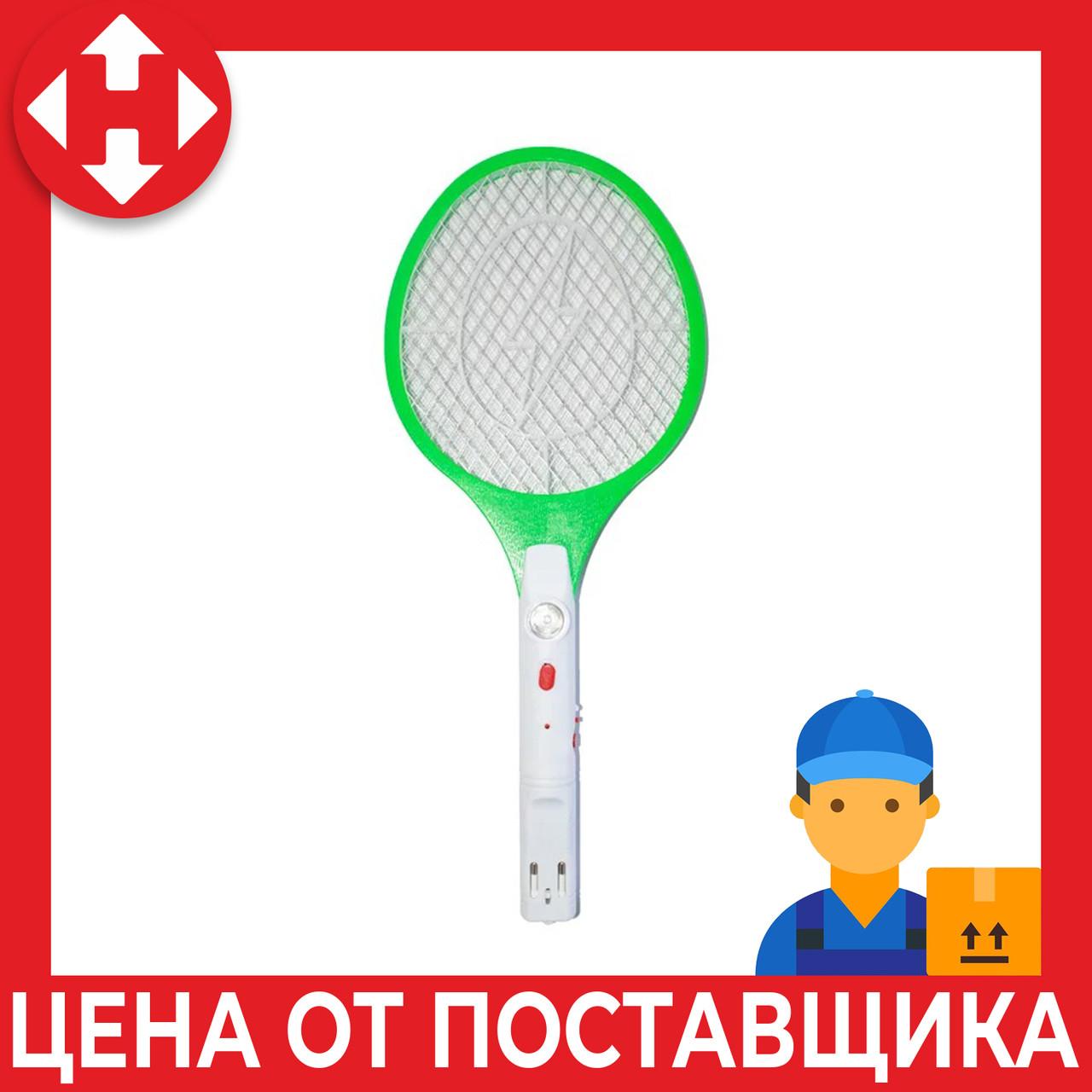 Мухобойка электрическая ракетка от насекомых (Зеленая) с доставкой по Украине и Киеву