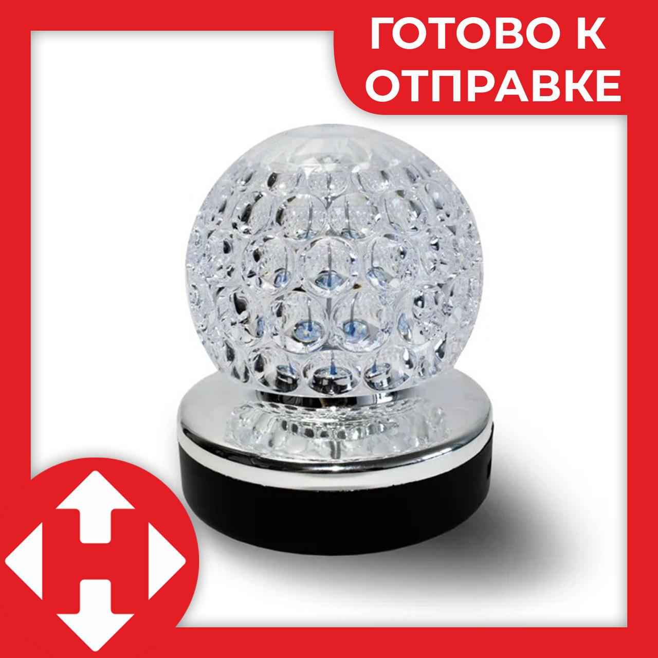 Музыкальный шарик ночник в розетку rotating lamp диско шар детский музыкальный светильник в Киеве