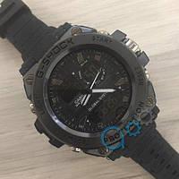 Мужские Часы Касио джи-шок Casi** GLG-1000 All Black \ Черный\ спортивные \ ремешок \ чоловічий годинник