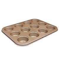 Форма для выпечки кексов 34.5*26*3см Бронзовая