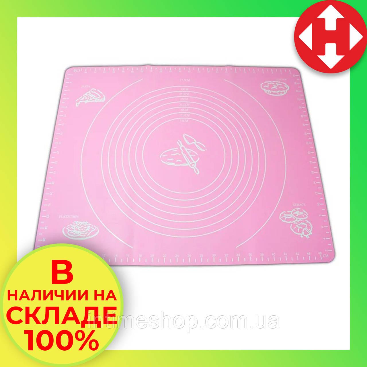 Силиконовый коврик для выпечки из теста розовый силіконовий коврик для тіста - Украина Киев