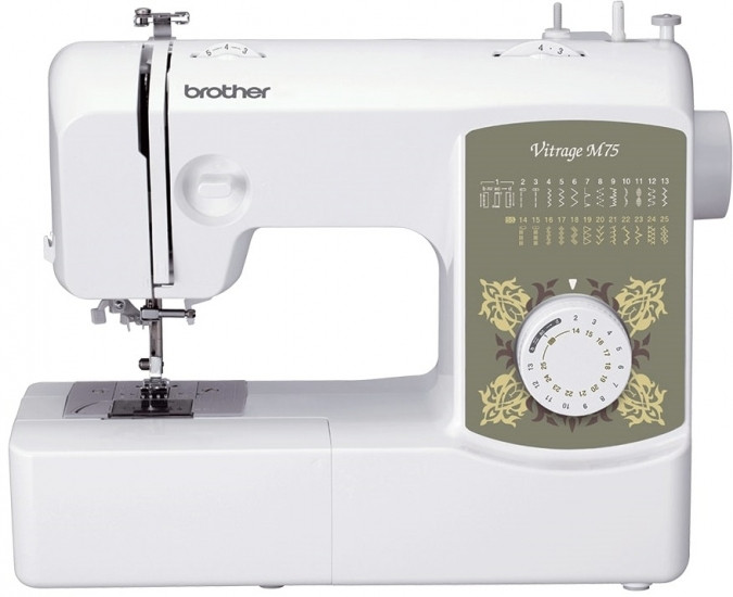 Швейная машина Brother Vitrage M75, электромех., 51 Вт, 25 швейных операций