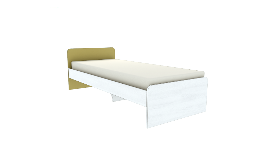 Кровать односпальная усиленная №2 , мебель для гостиниц