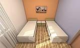 Кровать односпальная усиленная №2 , мебель для гостиниц, фото 2