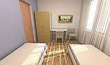 Кровать односпальная усиленная №2 , мебель для гостиниц, фото 3