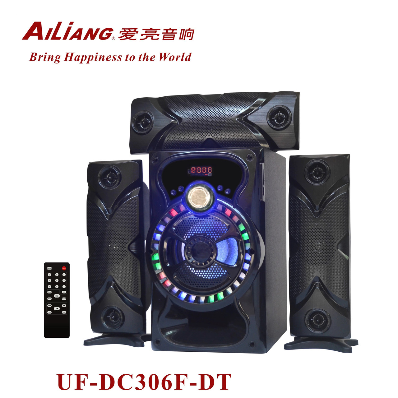 Беспроводная аккумуляторная колонка чемодан Ailiang UF-DC306F-DT, портативная Bluetooth акустика с усилителем