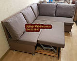 Кухонный диван «Прометей» с большими удобными подушками  1500х1800мм, фото 3
