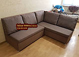 Кухонный диван «Прометей» с большими удобными подушками  1500х1800мм, фото 4