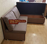 Кухонный диван «Прометей» с большими удобными подушками  1500х1800мм, фото 5