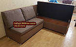 Кухонный диван «Прометей» с большими удобными подушками  1500х1800мм, фото 6