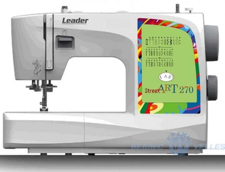 Швейная машинка Leader StreetArt 270, 29 швейных операций, 70 Вт