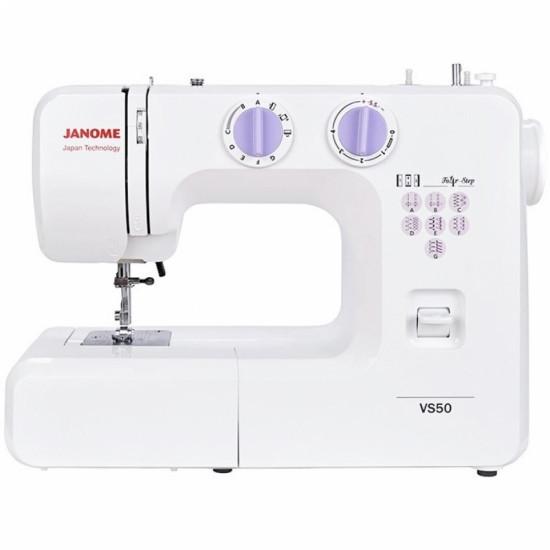 Швейная машина Janome VS50, электромех., 15 швейных операций, белый
