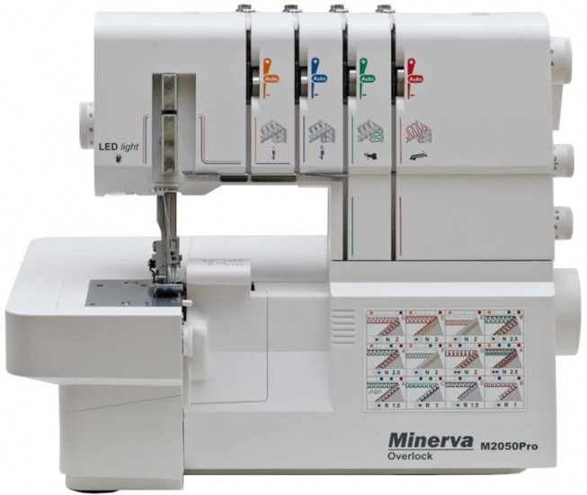 Оверлок Minerva M2050 Pro, 120 Вт, 1100 ст/мин