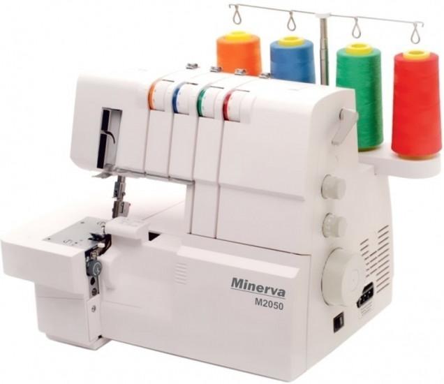 Оверлок Minerva M2050, 120 Вт, 17 швейных операций, 1100 ст/мин