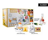 Кухонный комбайн 3 в 1: нарезка, смузи, десерт DSP KJ 3001 (овощерезка , терка, соковыжималка)