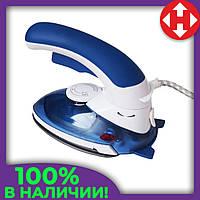 Распродажа! Утюг дорожный, отпариватель для одежды, 2 в 1, цвет - синий, HT-558 B, утюг отпариватель, фото 1