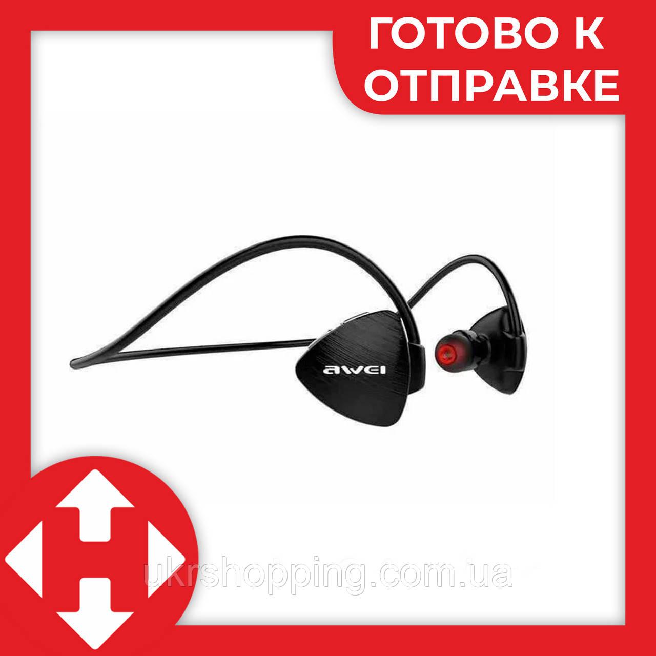 Беспроводные вакуумные спортивные блютус наушники, AWEI MDR A847BL - наушники для спорта - Черные