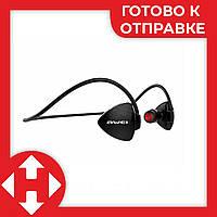 Беспроводные вакуумные спортивные блютус наушники, AWEI MDR A847BL - наушники для спорта - Черные, фото 1