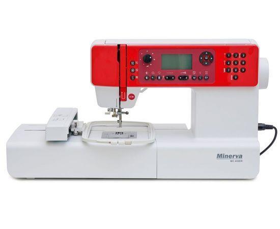 Швейно-вышивальная машина Minerva MC450ER, швейно-вышив., 404 швейных операций, белый/красный
