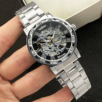 Winner 8012 Diamonds Automatic Silver-Black, фото 2