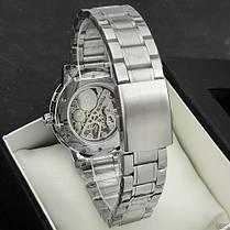 Winner 8012 Diamonds Automatic Silver-Black, фото 3