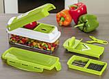 Овощерезка универсальная Nicer Dicer Plus (Найсер Дайсер) 12в1, измельчитель удобный помощник на вашей кухни, фото 3