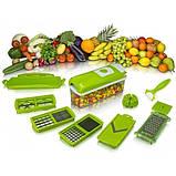 Овощерезка универсальная Nicer Dicer Plus (Найсер Дайсер) 12в1, измельчитель удобный помощник на вашей кухни, фото 6