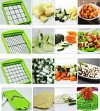 Овощерезка универсальная Nicer Dicer Plus (Найсер Дайсер) 12в1, измельчитель удобный помощник на вашей кухни, фото 8