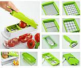 Овощерезка универсальная Nicer Dicer Plus (Найсер Дайсер) 12в1, измельчитель удобный помощник на вашей кухни, фото 9