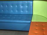Угловой диван для детского сада Квадро 3 части 200х150см, фото 7