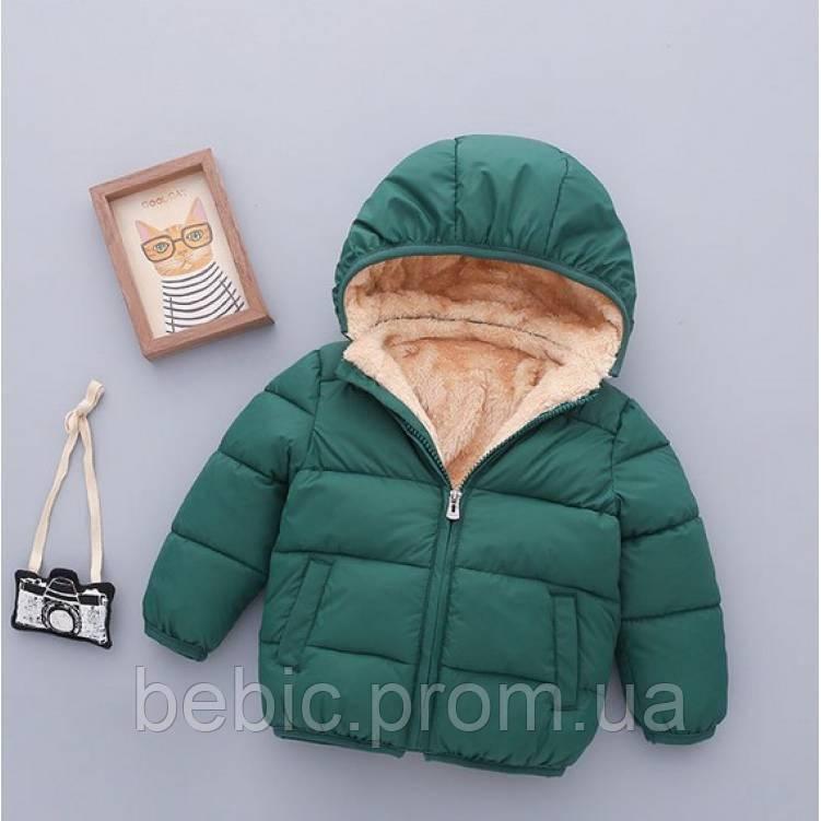 Курточка для мальчика зеленая Рост: 90 см