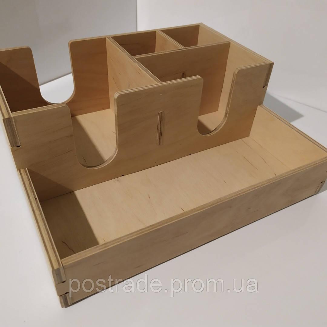 Органайзер барный деревянный для расходников на 5 отделов
