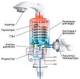 Мгновенный проточный водонагревательный электрический кран Delimano Делимано на 3 кВт 220 В Бойлеры и колонки, фото 10