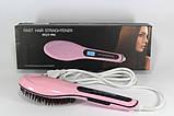 Электрическая расческа выпрямитель FAST HAIR STRAIGHTENER HQT-906, выпрямитель, укладка для волос!, фото 8