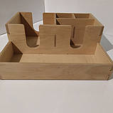 Органайзер барный деревянный для расходников на 5 отделов, фото 3