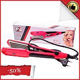 Выпрямитель для волос с гофре PM-1221, Керамический утюжок для волос, Крупное гофре, Прибор для укладки волос, фото 2