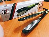 Выпрямитель для волос с гофре PM-1221, Керамический утюжок для волос, Крупное гофре, Прибор для укладки волос, фото 6